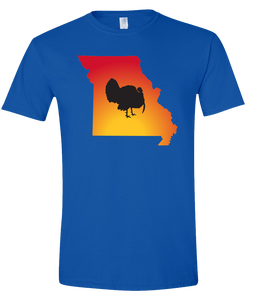 Short Sleeve T-Shirt Missouri Royal Turkey Vibrant Design High Quality Tight Knit Ring Spun Low Maintenance Cotton Printed With The Newest Available Color Transfer Technology