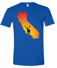 Load image into Gallery viewer, Short Sleeve T-Shirt California Royal Elk Vibrant Design High Quality Tight Knit Ring Spun Low Maintenance Cotton Printed With The Newest Available Color Transfer Technology