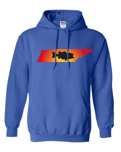 Pullover Hooded Sweatshirt Tennessee Royal Large Mouth Bass Vibrant Design High Quality Tight Knit Ring Spun Low Maintenance Cotton Printed With The Newest Available Color Transfer Technology