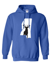 Load image into Gallery viewer, Pullover Hooded Sweatshirt Mississippi Royal Whitetail Deer Vibrant Design High Quality Tight Knit Ring Spun Low Maintenance Cotton Printed With The Newest Available Color Transfer Technology