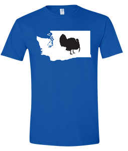 Short Sleeve T-Shirt Washington Royal Turkey Vibrant Design High Quality Tight Knit Ring Spun Low Maintenance Cotton Printed With The Newest Available Color Transfer Technology