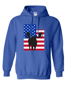 Pullover Hooded Sweatshirt Utah Royal Moose Vibrant Design High Quality Tight Knit Ring Spun Low Maintenance Cotton Printed With The Newest Available Color Transfer Technology