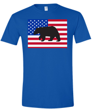 Load image into Gallery viewer, Short Sleeve T-Shirt Colorado Royal Black Bear Vibrant Design High Quality Tight Knit Ring Spun Low Maintenance Cotton Printed With The Newest Available Color Transfer Technology