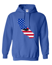 Load image into Gallery viewer, Pullover Hooded Sweatshirt California Royal Large Mouth Bass Vibrant Design High Quality Tight Knit Ring Spun Low Maintenance Cotton Printed With The Newest Available Color Transfer Technology