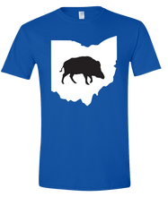 Load image into Gallery viewer, Short Sleeve T-Shirt Ohio Royal Wild Hog Vibrant Design High Quality Tight Knit Ring Spun Low Maintenance Cotton Printed With The Newest Available Color Transfer Technology
