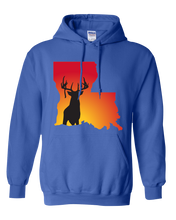 Load image into Gallery viewer, Pullover Hooded Sweatshirt Louisiana Royal Whitetail Deer Vibrant Design High Quality Tight Knit Ring Spun Low Maintenance Cotton Printed With The Newest Available Color Transfer Technology