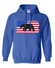 Load image into Gallery viewer, Pullover Hooded Sweatshirt Pennsylvania Royal Black Bear Vibrant Design High Quality Tight Knit Ring Spun Low Maintenance Cotton Printed With The Newest Available Color Transfer Technology