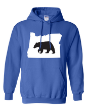 Load image into Gallery viewer, Pullover Hooded Sweatshirt Oregon Royal Black Bear Vibrant Design High Quality Tight Knit Ring Spun Low Maintenance Cotton Printed With The Newest Available Color Transfer Technology