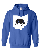 Load image into Gallery viewer, Pullover Hooded Sweatshirt Ohio Royal Wild Hog Vibrant Design High Quality Tight Knit Ring Spun Low Maintenance Cotton Printed With The Newest Available Color Transfer Technology