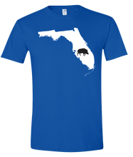 Load image into Gallery viewer, Short Sleeve T-Shirt Florida Royal Wild Hog Vibrant Design High Quality Tight Knit Ring Spun Low Maintenance Cotton Printed With The Newest Available Color Transfer Technology
