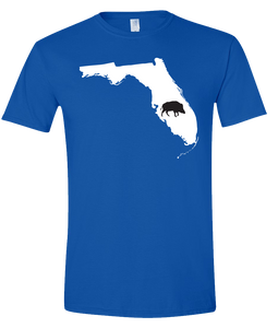 Short Sleeve T-Shirt Florida Royal Wild Hog Vibrant Design High Quality Tight Knit Ring Spun Low Maintenance Cotton Printed With The Newest Available Color Transfer Technology
