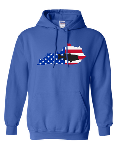 Pullover Hooded Sweatshirt Kentucky Royal Large Mouth Bass Vibrant Design High Quality Tight Knit Ring Spun Low Maintenance Cotton Printed With The Newest Available Color Transfer Technology