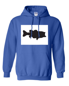 Pullover Hooded Sweatshirt Colorado Royal Large Mouth Bass Vibrant Design High Quality Tight Knit Ring Spun Low Maintenance Cotton Printed With The Newest Available Color Transfer Technology