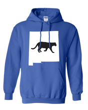 Load image into Gallery viewer, Pullover Hooded Sweatshirt New Mexico Royal Mountain Lion Vibrant Design High Quality Tight Knit Ring Spun Low Maintenance Cotton Printed With The Newest Available Color Transfer Technology