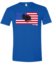 Load image into Gallery viewer, Short Sleeve T-Shirt South Dakota Royal Turkey Vibrant Design High Quality Tight Knit Ring Spun Low Maintenance Cotton Printed With The Newest Available Color Transfer Technology