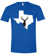 Load image into Gallery viewer, Short Sleeve T-Shirt Texas Royal Mule Deer Vibrant Design High Quality Tight Knit Ring Spun Low Maintenance Cotton Printed With The Newest Available Color Transfer Technology