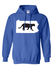 Load image into Gallery viewer, Pullover Hooded Sweatshirt Pennsylvania Royal Mountain Lion Vibrant Design High Quality Tight Knit Ring Spun Low Maintenance Cotton Printed With The Newest Available Color Transfer Technology