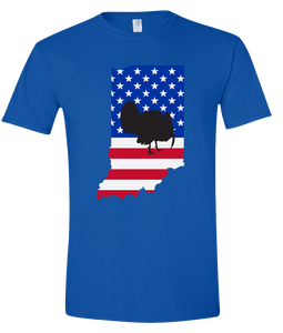 Short Sleeve T-Shirt Indiana Royal Turkey Vibrant Design High Quality Tight Knit Ring Spun Low Maintenance Cotton Printed With The Newest Available Color Transfer Technology