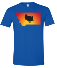Load image into Gallery viewer, Short Sleeve T-Shirt Montana Royal Turkey Vibrant Design High Quality Tight Knit Ring Spun Low Maintenance Cotton Printed With The Newest Available Color Transfer Technology