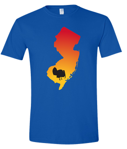 Short Sleeve T-Shirt New Jersey Royal Turkey Vibrant Design High Quality Tight Knit Ring Spun Low Maintenance Cotton Printed With The Newest Available Color Transfer Technology