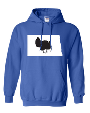 Load image into Gallery viewer, Pullover Hooded Sweatshirt North Dakota Royal Turkey Vibrant Design High Quality Tight Knit Ring Spun Low Maintenance Cotton Printed With The Newest Available Color Transfer Technology