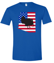 Load image into Gallery viewer, Short Sleeve T-Shirt Arizona Royal Turkey Vibrant Design High Quality Tight Knit Ring Spun Low Maintenance Cotton Printed With The Newest Available Color Transfer Technology