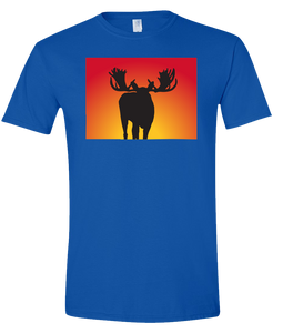 Short Sleeve T-Shirt Colorado Royal Moose Vibrant Design High Quality Tight Knit Ring Spun Low Maintenance Cotton Printed With The Newest Available Color Transfer Technology