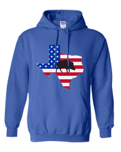 Load image into Gallery viewer, Pullover Hooded Sweatshirt Texas Royal Wild Hog Vibrant Design High Quality Tight Knit Ring Spun Low Maintenance Cotton Printed With The Newest Available Color Transfer Technology