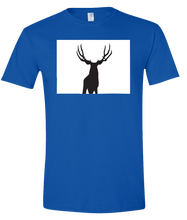 Load image into Gallery viewer, Short Sleeve T-Shirt Colorado Royal Mule Deer Vibrant Design High Quality Tight Knit Ring Spun Low Maintenance Cotton Printed With The Newest Available Color Transfer Technology