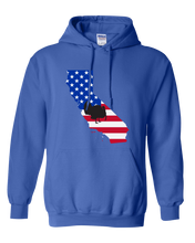 Load image into Gallery viewer, Pullover Hooded Sweatshirt California Royal Turkey Vibrant Design High Quality Tight Knit Ring Spun Low Maintenance Cotton Printed With The Newest Available Color Transfer Technology