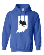 Load image into Gallery viewer, Pullover Hooded Sweatshirt Indiana Royal Turkey Vibrant Design High Quality Tight Knit Ring Spun Low Maintenance Cotton Printed With The Newest Available Color Transfer Technology