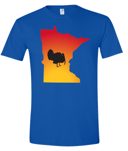 Short Sleeve T-Shirt Minnesota Royal Turkey Vibrant Design High Quality Tight Knit Ring Spun Low Maintenance Cotton Printed With The Newest Available Color Transfer Technology