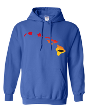 Load image into Gallery viewer, Pullover Hooded Sweatshirt Hawaii Royal Large Mouth Bass Vibrant Design High Quality Tight Knit Ring Spun Low Maintenance Cotton Printed With The Newest Available Color Transfer Technology