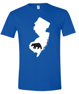 Short Sleeve T-Shirt New Jersey Royal Black Bear Vibrant Design High Quality Tight Knit Ring Spun Low Maintenance Cotton Printed With The Newest Available Color Transfer Technology
