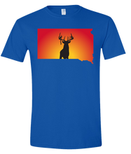 Load image into Gallery viewer, Short Sleeve T-Shirt South Dakota Royal Whitetail Deer Vibrant Design High Quality Tight Knit Ring Spun Low Maintenance Cotton Printed With The Newest Available Color Transfer Technology