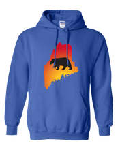 Load image into Gallery viewer, Pullover Hooded Sweatshirt Maine Royal Black Bear Vibrant Design High Quality Tight Knit Ring Spun Low Maintenance Cotton Printed With The Newest Available Color Transfer Technology