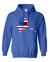 Load image into Gallery viewer, Pullover Hooded Sweatshirt Alaska Royal Large Mouth Bass Vibrant Design High Quality Tight Knit Ring Spun Low Maintenance Cotton Printed With The Newest Available Color Transfer Technology