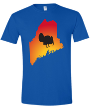 Load image into Gallery viewer, Short Sleeve T-Shirt Maine Royal Turkey Vibrant Design High Quality Tight Knit Ring Spun Low Maintenance Cotton Printed With The Newest Available Color Transfer Technology