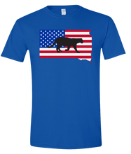 Load image into Gallery viewer, Short Sleeve T-Shirt South Dakota Royal Mountain Lion Vibrant Design High Quality Tight Knit Ring Spun Low Maintenance Cotton Printed With The Newest Available Color Transfer Technology