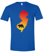 Load image into Gallery viewer, Short Sleeve T-Shirt New Jersey Royal Black Bear Vibrant Design High Quality Tight Knit Ring Spun Low Maintenance Cotton Printed With The Newest Available Color Transfer Technology