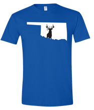 Load image into Gallery viewer, Short Sleeve T-Shirt Oklahoma Royal Whitetail Deer Vibrant Design High Quality Tight Knit Ring Spun Low Maintenance Cotton Printed With The Newest Available Color Transfer Technology