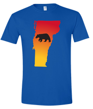 Load image into Gallery viewer, Short Sleeve T-Shirt Vermont Royal Black Bear Vibrant Design High Quality Tight Knit Ring Spun Low Maintenance Cotton Printed With The Newest Available Color Transfer Technology