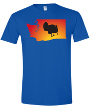Load image into Gallery viewer, Short Sleeve T-Shirt Washington Royal Turkey Vibrant Design High Quality Tight Knit Ring Spun Low Maintenance Cotton Printed With The Newest Available Color Transfer Technology