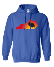 Load image into Gallery viewer, Pullover Hooded Sweatshirt Kentucky Royal Turkey Vibrant Design High Quality Tight Knit Ring Spun Low Maintenance Cotton Printed With The Newest Available Color Transfer Technology