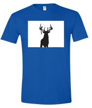 Load image into Gallery viewer, Short Sleeve T-Shirt Colorado Royal Whitetail Deer Vibrant Design High Quality Tight Knit Ring Spun Low Maintenance Cotton Printed With The Newest Available Color Transfer Technology