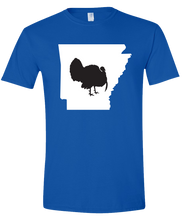 Load image into Gallery viewer, Short Sleeve T-Shirt Arkansas Royal Turkey Vibrant Design High Quality Tight Knit Ring Spun Low Maintenance Cotton Printed With The Newest Available Color Transfer Technology