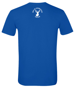 Short Sleeve T-Shirt New Hampshire Royal Moose Vibrant Design High Quality Tight Knit Ring Spun Low Maintenance Cotton Printed With The Newest Available Color Transfer Technology