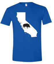 Load image into Gallery viewer, Short Sleeve T-Shirt California Royal Wild Hog Vibrant Design High Quality Tight Knit Ring Spun Low Maintenance Cotton Printed With The Newest Available Color Transfer Technology