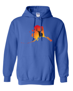 Pullover Hooded Sweatshirt Alaska Royal Elk Vibrant Design High Quality Tight Knit Ring Spun Low Maintenance Cotton Printed With The Newest Available Color Transfer Technology