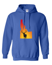 Load image into Gallery viewer, Pullover Hooded Sweatshirt Idaho Royal Elk Vibrant Design High Quality Tight Knit Ring Spun Low Maintenance Cotton Printed With The Newest Available Color Transfer Technology